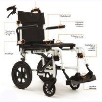 Bobby EVO lichtgewicht transport rolstoel