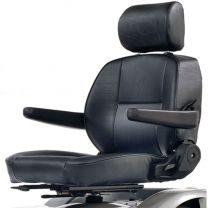 Scootmobielstoel in een grotere maat. Deze scootmobiel zetel heeft een zitbreedte van 61cm.