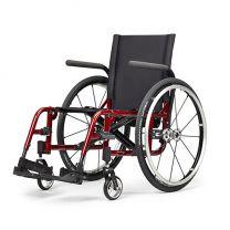Actief rolstoel leverbaar in aluminium of titanium.