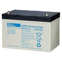 Cellpower CPX Accu/batterij 75 Ah - 12 volt met hoge capaciteit