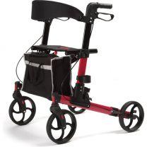 Vermeiren rollator Guava dubbel opvouwbaar. Een mooie design rollator leverbaar in rood en antraciet.