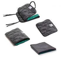 Anti-slip houdt de client meer rechtop en verminderd onderuit zakken in de stoel