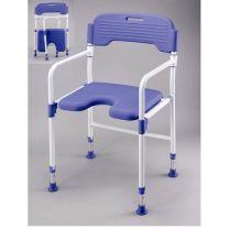 Opvouwbare douchestoel met comfort zit en rug - hoogte verstelbaar