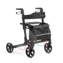 Rollator Double antraciet met luxe tas