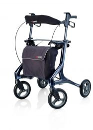 Topro rollator Pegasus cabon een stijlvolle lichtgewicht design rollator.